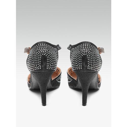 Elle Women Black Embellished Pumps