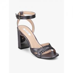 Elle Grey Ankle Loop Sandals