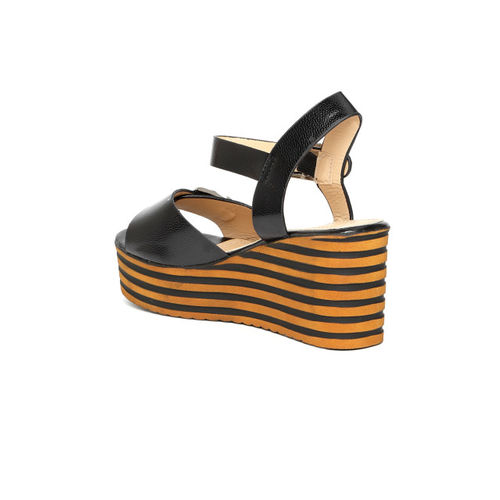 Elle Women Black Solid Wedges