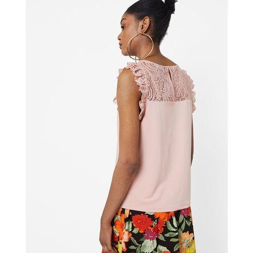 Vero Moda Round-Neck Top with Lace Yoke