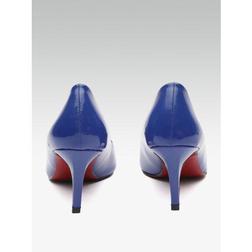 Elle Women Blue Solid Pumps