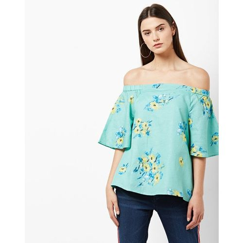 f8dc757e03d Buy Vero Moda Floral Print Off-Shoulder Top with Bell Sleeves online ...