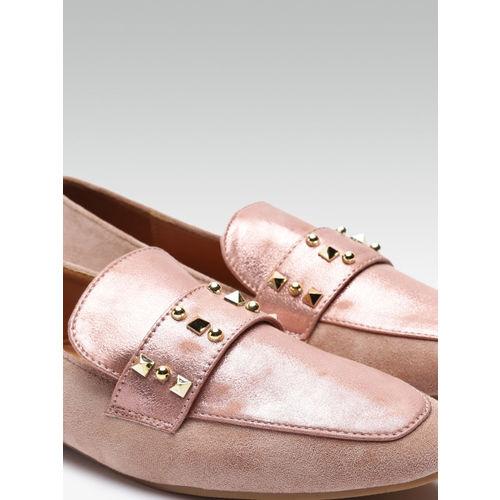 Elle Women Pink Embellished Loafers