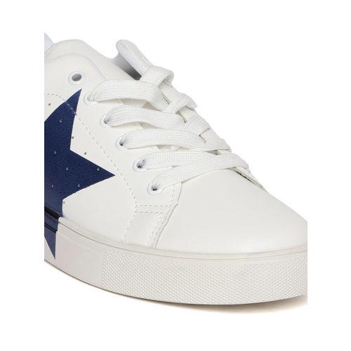 Elle Women White Printed Detail Sneakers