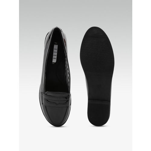 Elle Women Black Solid Ballerinas