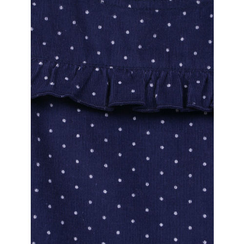 Beebay Girls Navy Blue Printed A-Line Dress