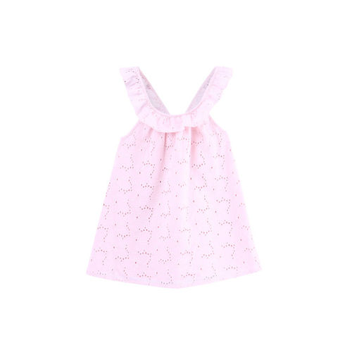Beebay Girls Pink Printed A-Line Dress