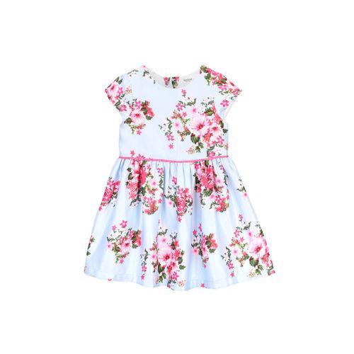Beebay Girls Blue Printed Dress