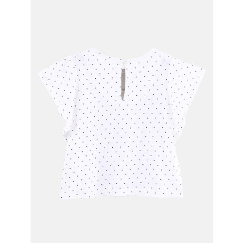 Beebay Girls Casual Cotton Blend Top(White, Pack of 1)