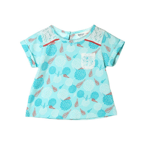 Beebay Casual Cotton Top(Blue, Pack of 1)