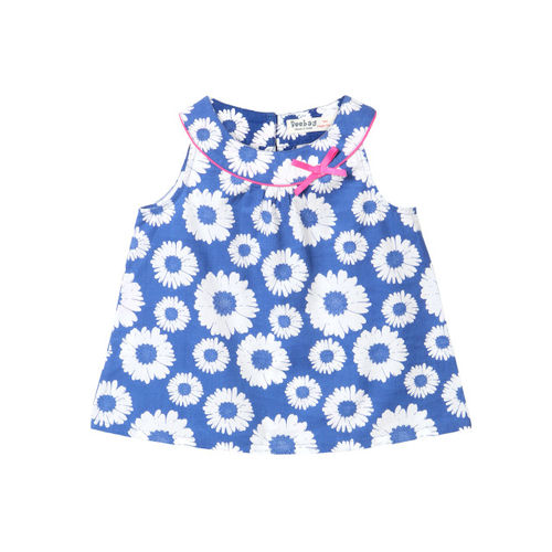 Beebay Casual Cotton Blend Top(Blue, Pack of 1)
