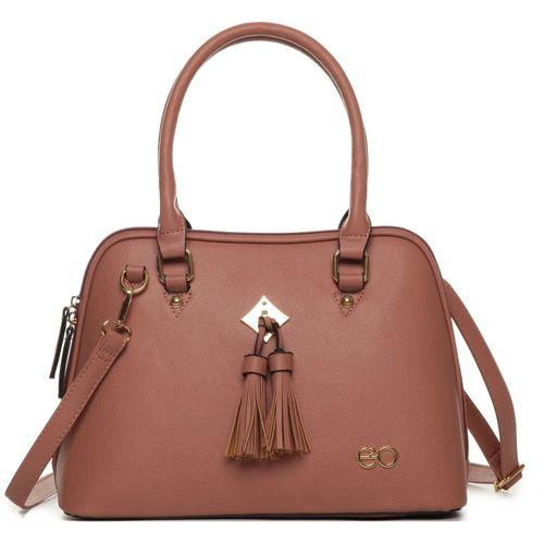E2O Pink Leather Textured Handbag