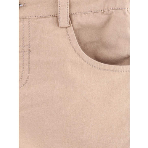 Beebay Beige Solid Regular Fit Chino Shorts