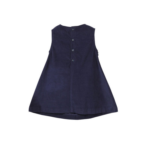 Beebay Girls Navy Blue Solid A-Line Dress
