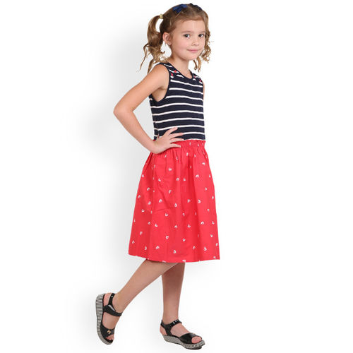 Beebay Red Ship Print Dress