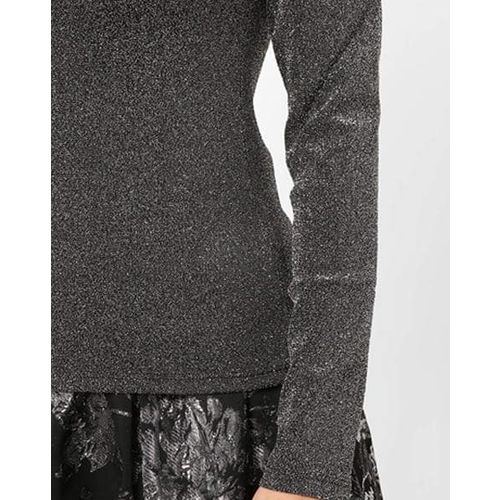 TALLY WEiJL Textured Shimmery Top with Cut-Out
