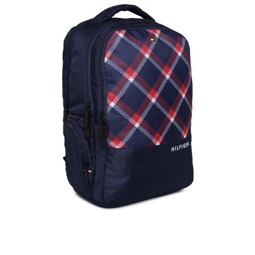 Tommy Hilfiger Unisex Navy Blue & White Backpack