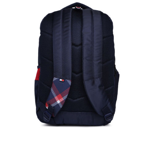 Tommy Hilfiger Unisex Navy Blue & White Backpack