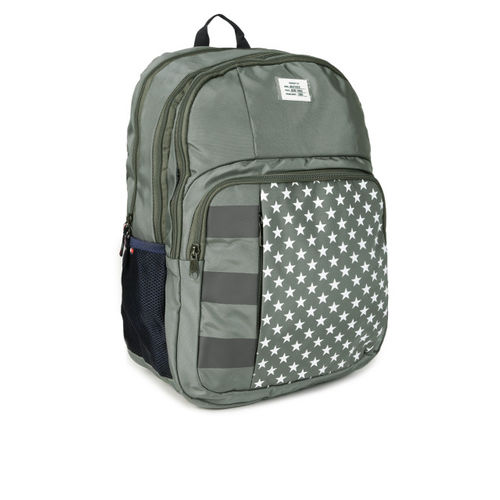 Tommy Hilfiger Unisex Olive Green Graphic Backpack