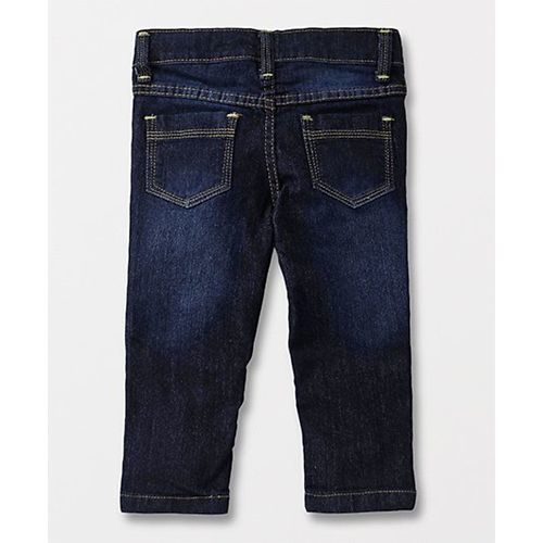 Little Kangaroos Adjustable Elastic Waist Jeans Free To Be Me Print - Dark Blue