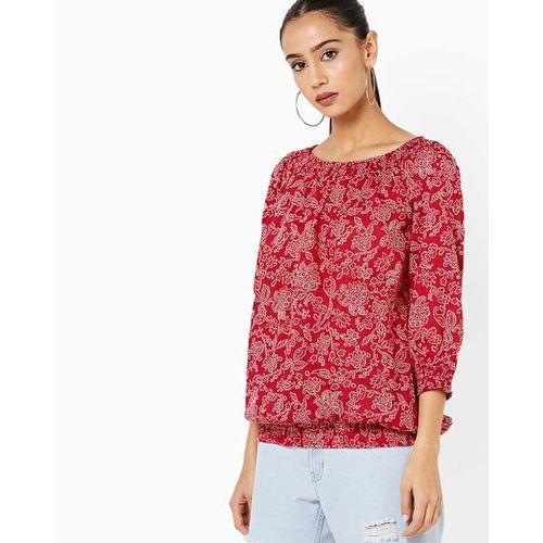 8558afc7331 Buy DNMX Smocked Floral Print Blouson Top online | Looksgud.in
