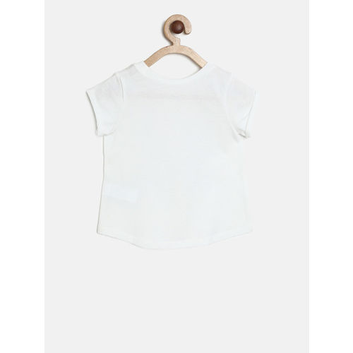 The Childrens Place Girls White Printed Top