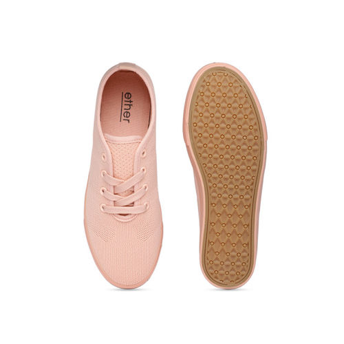 ether Women Peach-Coloured Sneakers