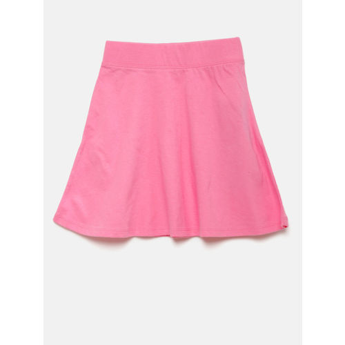 The Childrens Place Girls Pink Solid A-line Skirt