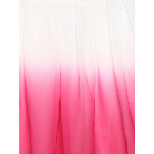 The Childrens Place Girls Pink & White Dip-Dyed Skirt