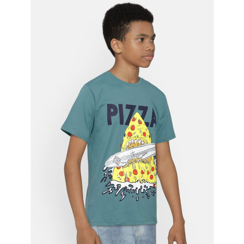 The Childrens Place Boys Blue Printed Round Neck T-shirt
