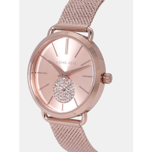 Michael Kors Women Rose Gold-Toned Analogue Watch MK3845_SOR