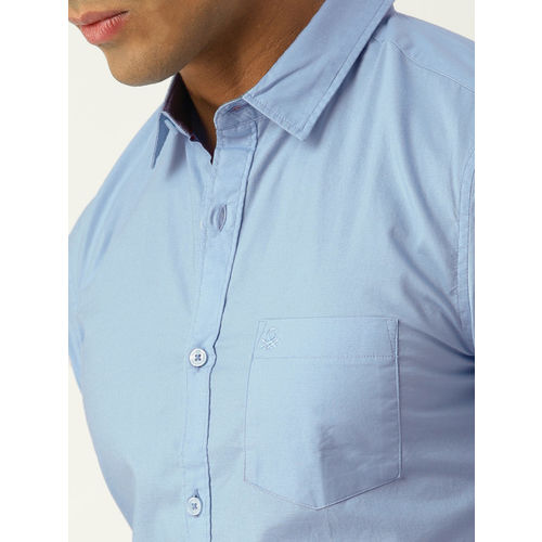 United Colors of Benetton Men Blue Slim Fit Solid Casual Shirt