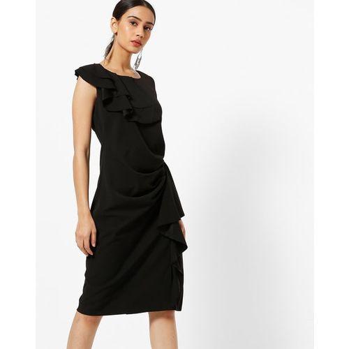 Project Eve WW Evening Ruffled Sleeveless Sheath Dress