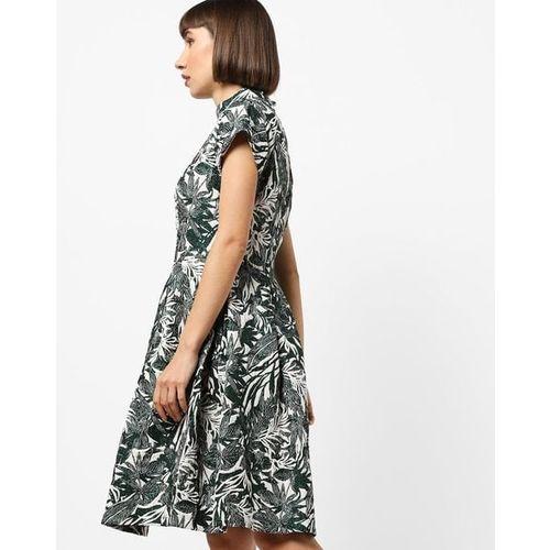 Closet London Tropical Print Skater Dress