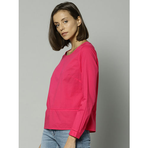 Marks & Spencer Women Pink Solid Shirt Style Top