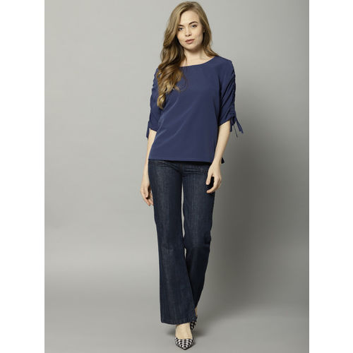 Marks & Spencer Women Blue Solid Top