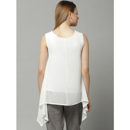 Marks & Spencer Women White Solid A-Line Top