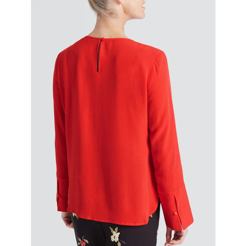 Marks & Spencer Women Red Solid A-Line Top