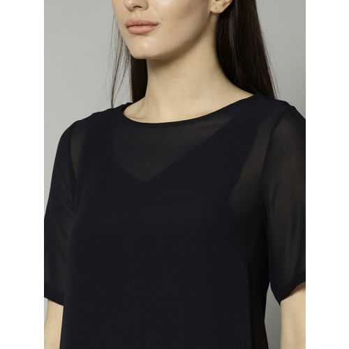 Marks & Spencer Women Navy Solid Top