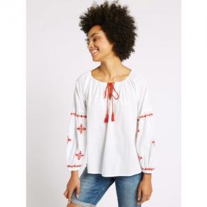Marks & Spencer Women White Solid Top