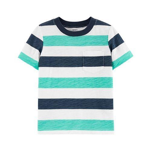 Carter's Striped Slub Jersey Tee - Navy Blue