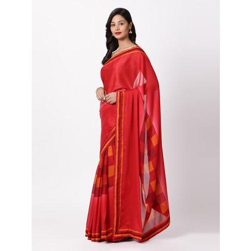 cf0528aaa5 Buy Soch Red Striped Poly Georgette Saree online | Looksgud.in