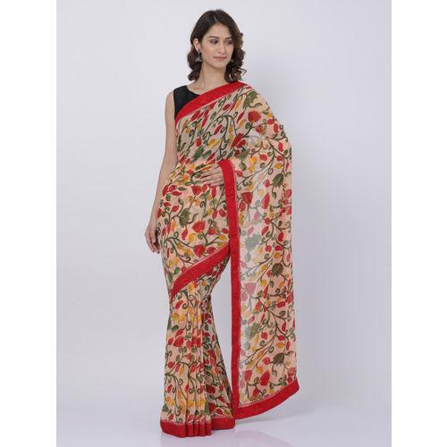 9de85c9a3a9 Buy Soch Red   Beige Poly Georgette Printed Saree online ...