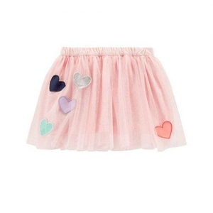 Carter's Heart Applique Skirt - Pink