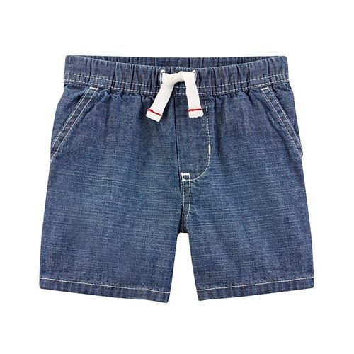 Carter's Easy Pull-On Chambray Shorts - Blue