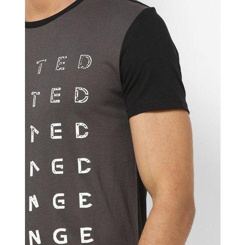 UNITED COLORS OF BENETTON Colourblock Crew-Neck Cotton T-shirt