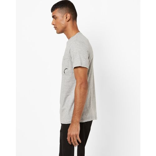 AJIO Slim Fit Cotton T-shirt with Patch Pocket