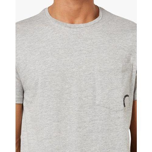 AJIO Slim Fit Cotton T-shirt with Patch Pocket