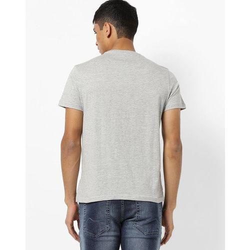 AJIO Typography Print Slim Fit Crew-Neck T-shirt