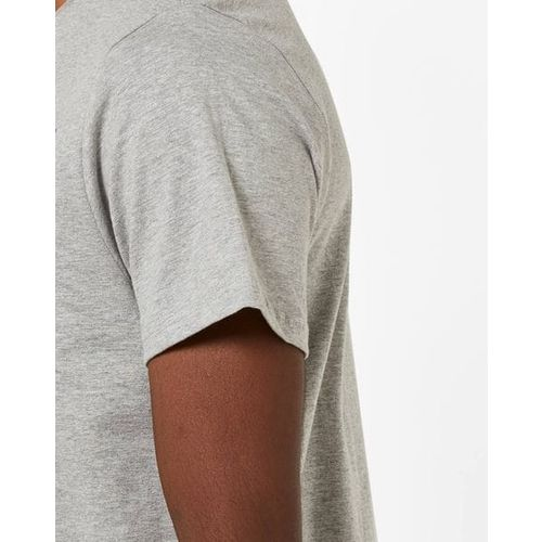 AJIO Crew-Neck T-shirt with Contrast Patch